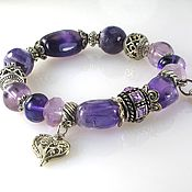 Украшения handmade. Livemaster - original item B24 Bracelet with amethyst and fluorite. Handmade.