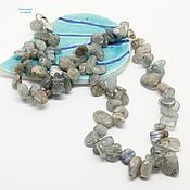Работы для детей, handmade. Livemaster - original item Beads of kyanite, Silvery radiance 49 cm. Handmade.
