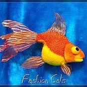 Куклы и игрушки ручной работы. Ярмарка Мастеров - ручная работа Золотая рыбка. Handmade.
