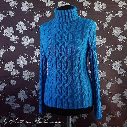 """Кофты и свитера ручной работы. Ярмарка Мастеров - ручная работа. Купить Свитер """"Elle"""". Handmade. Синий, модный свитер"""