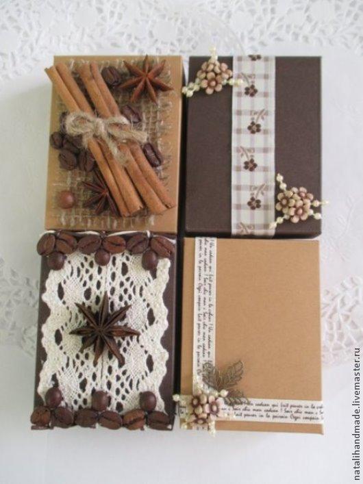 Персональные подарки ручной работы. Ярмарка Мастеров - ручная работа. Купить Подарочные коробочки для украшений, брелоков и закладок. Handmade. Коричневый