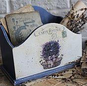 "Канцелярские товары ручной работы. Ярмарка Мастеров - ручная работа Короб для бумаг ""CARTE POSTALE"". Handmade."
