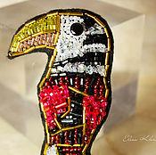 """Аксессуары ручной работы. Ярмарка Мастеров - ручная работа Брошь из бисера """"ТУКАН"""", ручная вышивка. Handmade."""