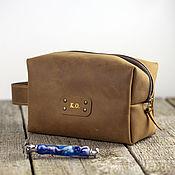 Сумки и аксессуары handmade. Livemaster - original item Dressing case, travel large cosmetic bag made of genuine leather. Handmade.