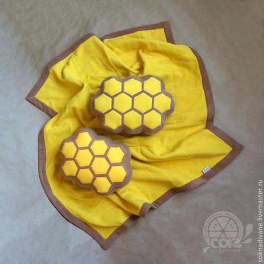 Текстиль, ковры ручной работы. Ярмарка Мастеров - ручная работа. Купить Сочный плед-СОТЫ. Handmade. Плед, стеганое покрывало