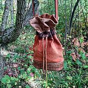 Сумки и аксессуары handmade. Livemaster - original item bag-Torba: Red-brown. Handmade.