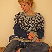 Одежда ручной работы. Ярмарка Мастеров - ручная работа Исландский свитер из Алафосс Лопи. Handmade.