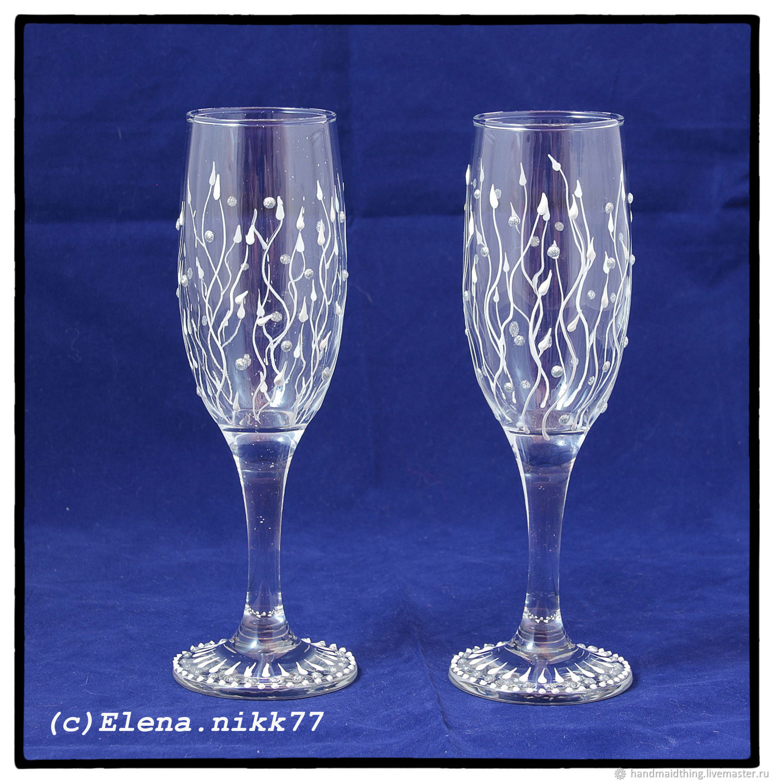 Champagne glasses 'Bindweed', Wine Glasses, Moscow,  Фото №1