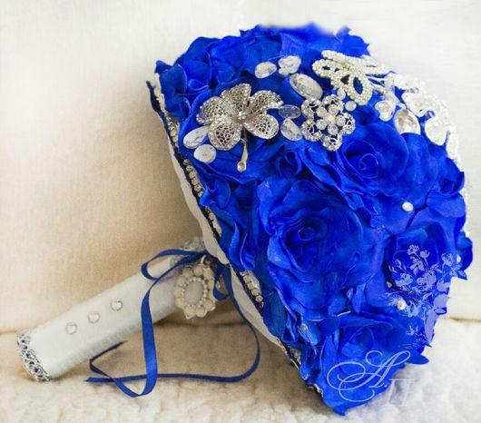 """Свадебные цветы ручной работы. Ярмарка Мастеров - ручная работа. Купить Букет невесты """" Ультрамарин """". Handmade. Букет"""