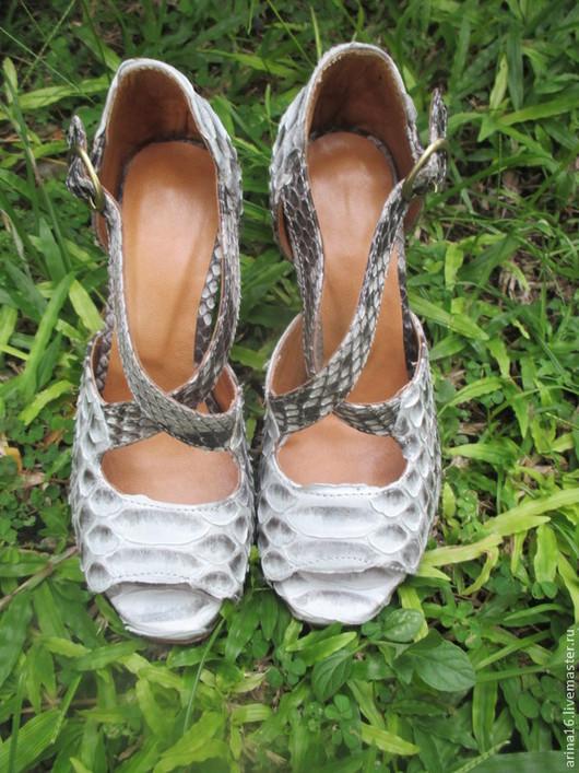 Обувь ручной работы. Ярмарка Мастеров - ручная работа. Купить Босоножки. Handmade. Серый, босоножки из кожи, любой цвет