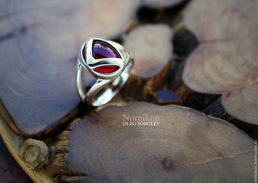 """Кольца ручной работы. Ярмарка Мастеров - ручная работа. Купить Руническое кольцо """" Руна Кано на гранате """". Handmade."""