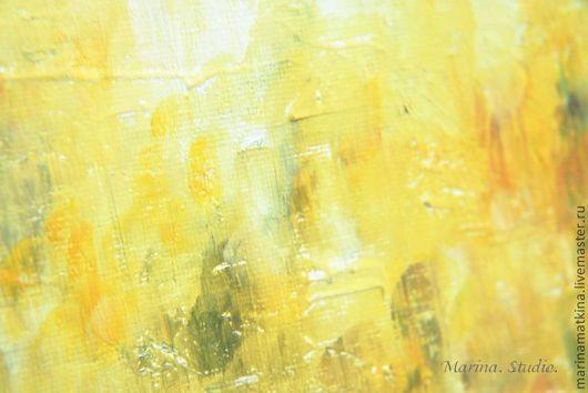 Абстракция ручной работы. Ярмарка Мастеров - ручная работа. Купить Картина маслом «Солнечный туман». Handmade. Лимонный, картина маслом