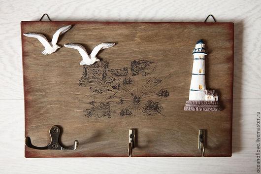 Прихожая ручной работы. Ярмарка Мастеров - ручная работа. Купить Ключница-вешалка Морская для прихожей или ванной комнаты. Handmade.