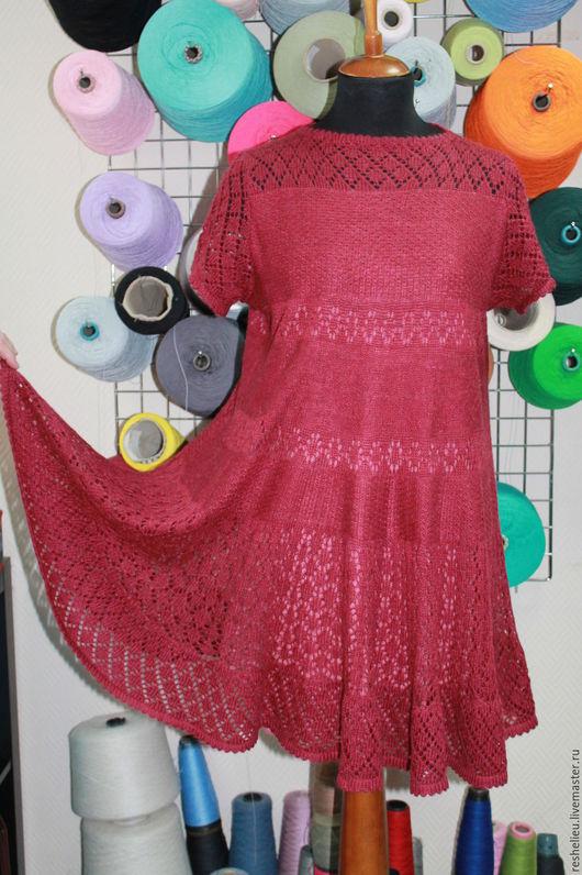 Платья ручной работы. Ярмарка Мастеров - ручная работа. Купить Платье №65 вязаное из 30% мохера.. Handmade. Платье вязаное