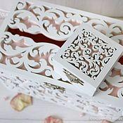 Свадебный салон handmade. Livemaster - original item Wooden wedding Treasury and ring box. Handmade.