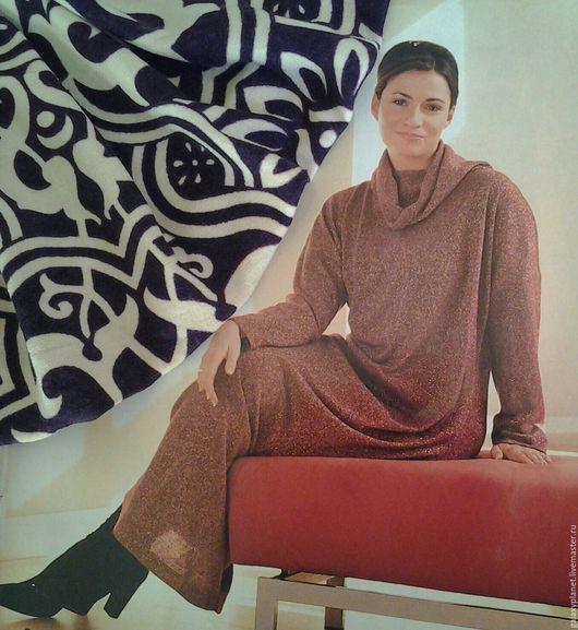 Платья ручной работы. Ярмарка Мастеров - ручная работа. Купить Теплое уютное платье из трикотажа, в пол, на размер 54-56. Handmade.