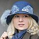 """Шляпы ручной работы. Ярмарка Мастеров - ручная работа. Купить Шляпка """"Wave"""". Handmade. Море, шляпка, помпон, валяная шляпа"""