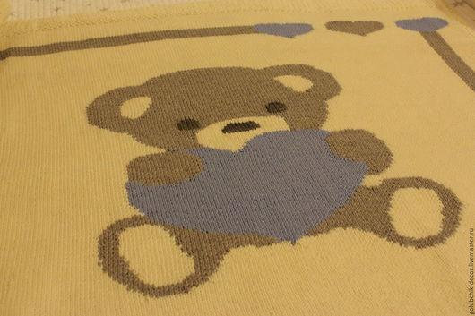 Пледы и одеяла ручной работы. Ярмарка Мастеров - ручная работа. Купить Детский плед Мишка. Handmade. Комбинированный, мишка