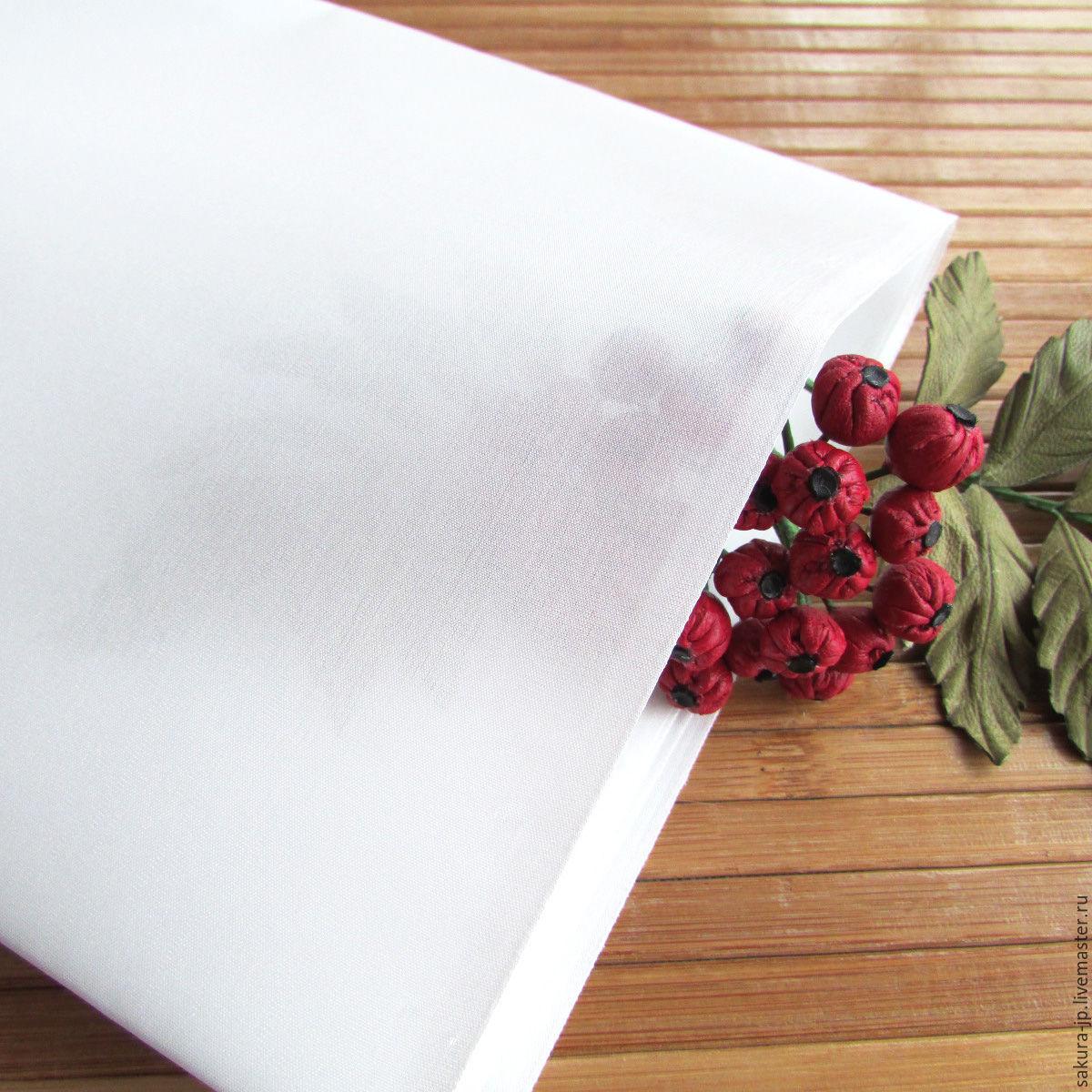 Habotai No. 8 natural silk. Japanese fabric flowers. SAKURA - materials for citadele. Fair Masters.