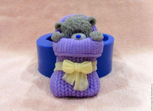 """Другие виды рукоделия ручной работы. Ярмарка Мастеров - ручная работа. Купить Силиконовая форма для мыла """"Новорожденный Мишка Тедди"""". Handmade."""