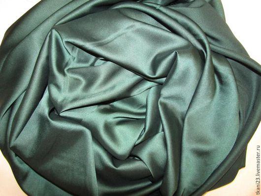 Шитье ручной работы. Ярмарка Мастеров - ручная работа. Купить Атлас шелк стрейч арт.14 АТШ-3 (Корея) изумрудный. Handmade.