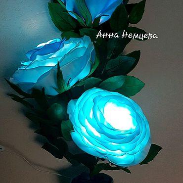 Для дома и интерьера. Ярмарка Мастеров - ручная работа Ростовой цветок-светильник. Handmade.