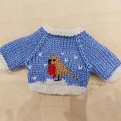 Куклы и игрушки ручной работы. Ярмарка Мастеров - ручная работа Вязаная спицами одежда для кукол и мишек. Handmade.