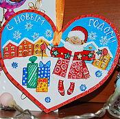 Подарки к праздникам ручной работы. Ярмарка Мастеров - ручная работа Новогодняя подвеска-сувенир. Handmade.