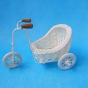 Плетеное кашпо велосипед малый