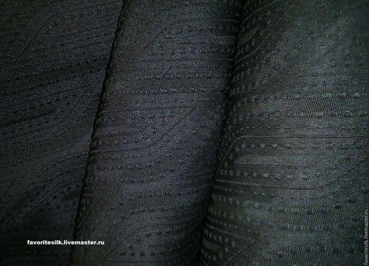 Шитье ручной работы. Ярмарка Мастеров - ручная работа. Купить Японский Шёлк рельеф чёрный. Handmade. Натуральный шелк
