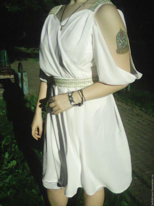 Платья ручной работы. Ярмарка Мастеров - ручная работа. Купить в Греческом стиле туника платье  шелк стрейч шифон. Handmade.