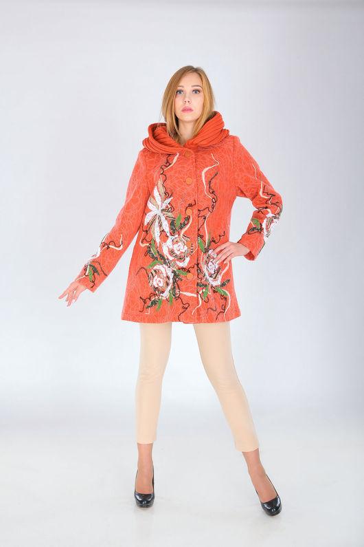 Верхняя одежда ручной работы. Ярмарка Мастеров - ручная работа. Купить СВ 65. Handmade. Рыжий, женское пальто
