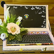 Подарки к праздникам ручной работы. Ярмарка Мастеров - ручная работа Ноутбук из конфет Дамский каприз))). Handmade.