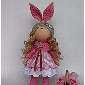 Куклы и игрушки ручной работы. Ярмарка Мастеров - ручная работа Зайка врозовом. Handmade.