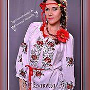 Одежда handmade. Livemaster - original item Tunic dress in the Ukrainian style