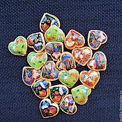 Материалы для творчества ручной работы. Ярмарка Мастеров - ручная работа Металлическая бусина клуазонне Сердце большое. Handmade.