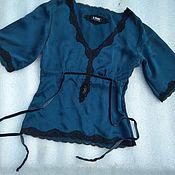 Винтаж handmade. Livemaster - original item Vintage blouse,100% silk,vintage Europe. Handmade.