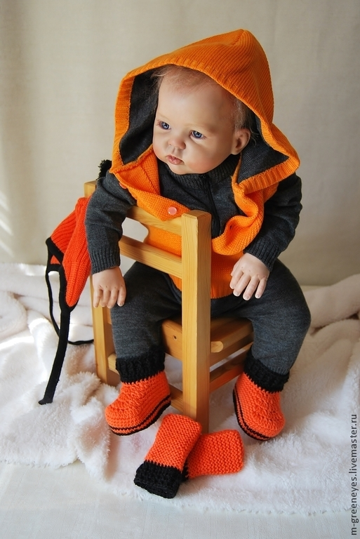"""Одежда ручной работы. Ярмарка Мастеров - ручная работа. Купить Комплект 6 в 1 """"Рыжее солнышко-2"""". Handmade. Для новорожденного"""