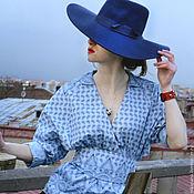 Одежда ручной работы. Ярмарка Мастеров - ручная работа Блузка цвета питерского неба. Handmade.
