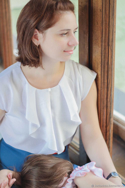 Блуза с воланом, Блузки, Санкт-Петербург,  Фото №1