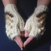 Аксессуары handmade. Livemaster - original item Women`s fingerless gloves `Play with wool`. Handmade.