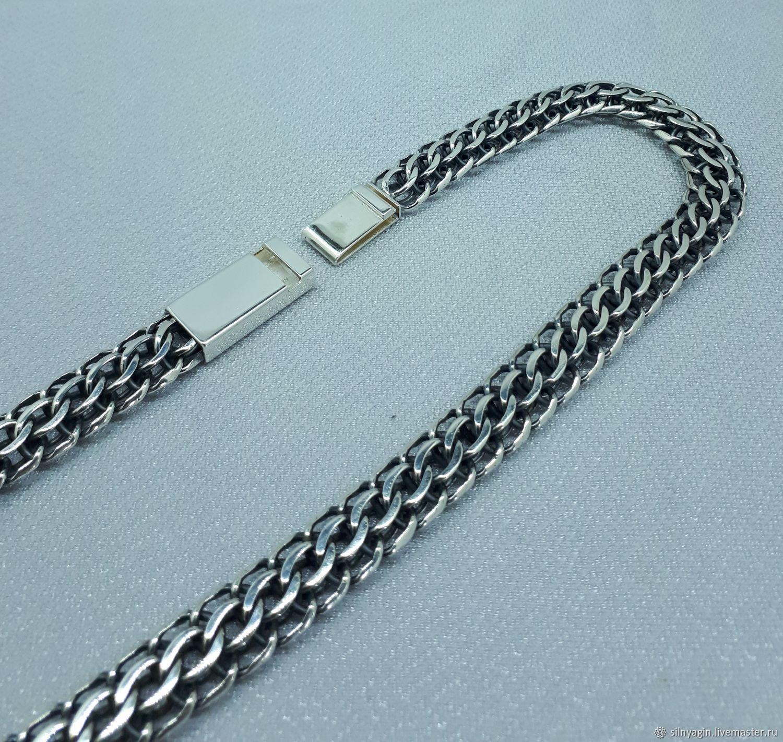 Плетение цепочек из серебра американка фото