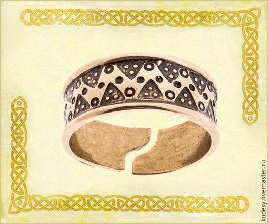 """Кольца ручной работы. Ярмарка Мастеров - ручная работа. Купить Кольцо литое """"Северное"""". Handmade. Золотой, перстень, кольцо, оберег"""