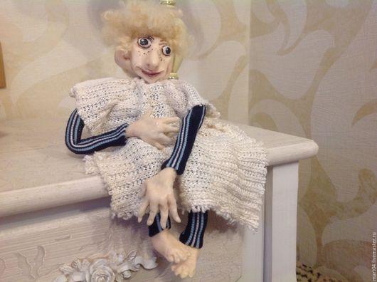 Коллекционные куклы ручной работы. Ярмарка Мастеров - ручная работа. Купить Ангел. Handmade. Белый, полимерная глина фимо (fimo)