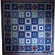 Это лоскутное одеяло светится как драгоценные россыпи спфиров - от бледно-голубых до тёмно-синих...
