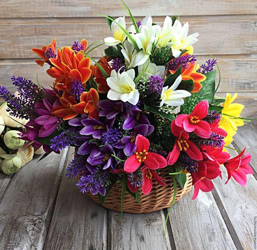Материалы для флористики ручной работы. Ярмарка Мастеров - ручная работа. Купить Первоцветы с лавандой. Handmade. Искусственные цветы, цветы, первоцветы