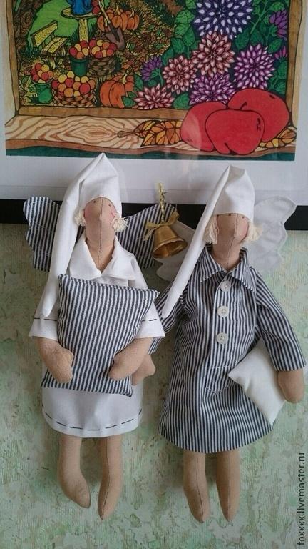 Куклы Тильды ручной работы. Ярмарка Мастеров - ручная работа. Купить Ангелы сна. Handmade. Кукла Тильда, подарок, верёвка
