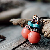 Украшения ручной работы. Ярмарка Мастеров - ручная работа Мальдивы -серьги. Handmade.