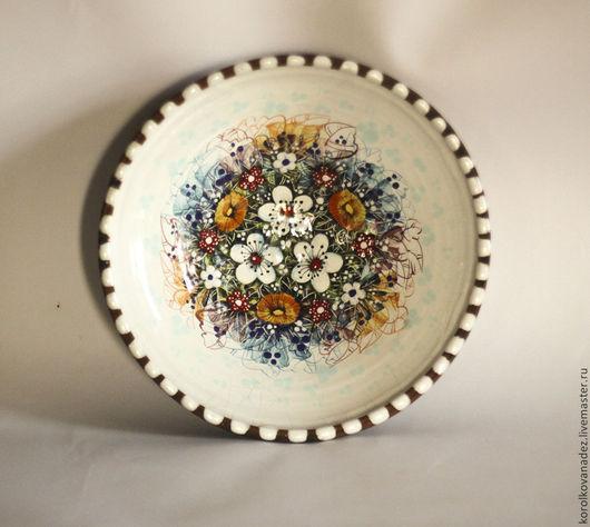 Тарелки ручной работы. Ярмарка Мастеров - ручная работа. Купить Блюдо керамическое, тарелка ( майолика). Handmade. Керамика