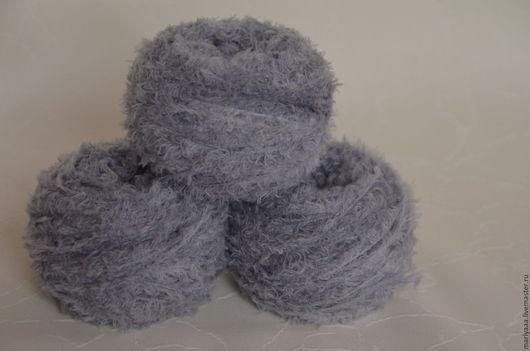 Вязание ручной работы. Ярмарка Мастеров - ручная работа. Купить Фактурная пряжа цвет серый меланж  для  мишек Тедди и их друзей. Handmade.